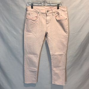 7 for all mankind pale pink jeans. Size 28.